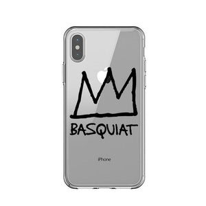 CROWN Basquiat Transparent Phone Case [iPhone] - Kiaroskuro Kiaroskuro Decor- Canvas Prints, Home Décor & Fashion