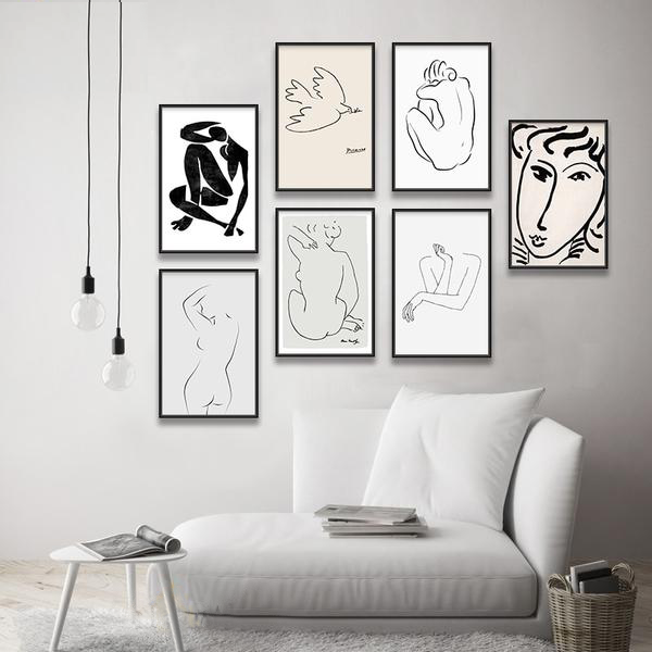 ORGANIC Matisse & Picasso Dessin Collection - Kiaroskuro Kiaroskuro Decor- Canvas Prints, Home Décor & Fashion