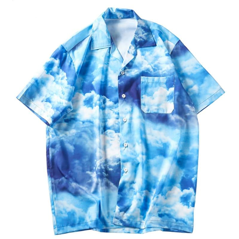 UP THERE Button Up Shirt - Kiaroskuro