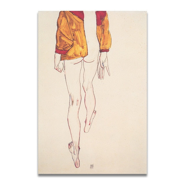 SCHIELE Dessin Collection - Egon Schiele Kiaroskuro Decor- Canvas Prints, Home Décor & Fashion