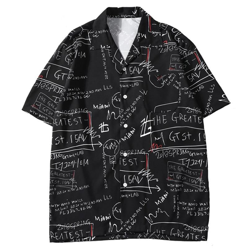 BLACKBOARD Button Up Shirt - Kiaroskuro Kiaroskuro Decor- Canvas Prints, Home Décor & Fashion