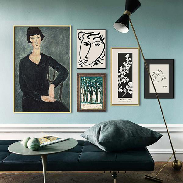 PINE Modigliani & Picasso Artwork Collection - Kiaroskuro Kiaroskuro Decor- Canvas Prints, Home Décor & Fashion