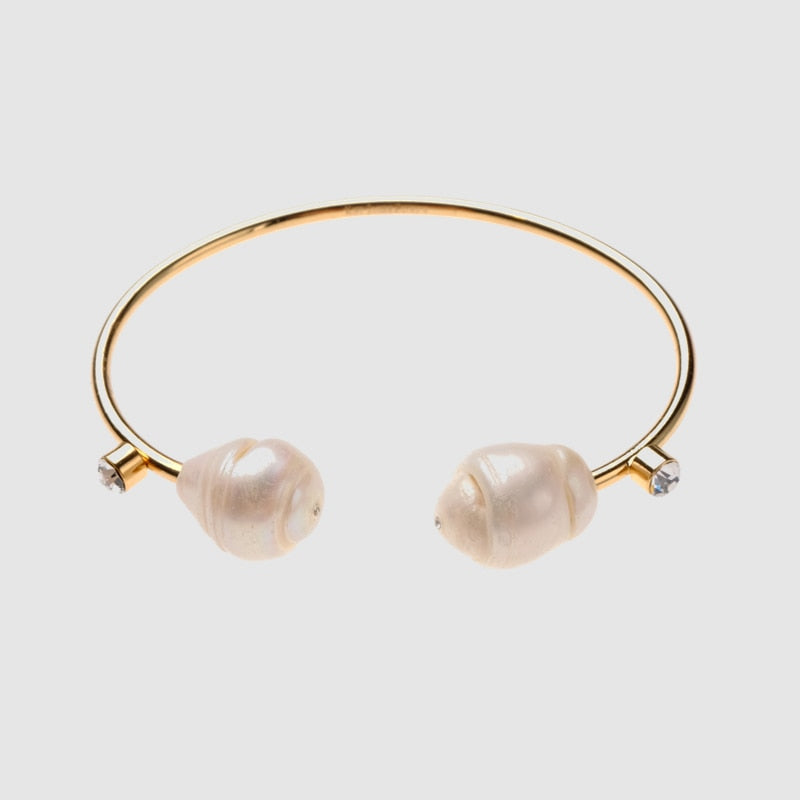 ELOISE Baroque Pearl Cuff Bracelet - Kiaroskuro  Kiaroskuro Decor- Canvas Prints, Home Décor & Fashion