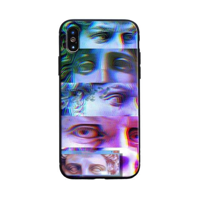 STARE Michelangelo Phone Case [iPhone] - Kiaroskuro Kiaroskuro Decor- Canvas Prints, Home Décor & Fashion