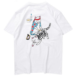 IREZUMI DAWN Cotton Tee - Kiaroskuro