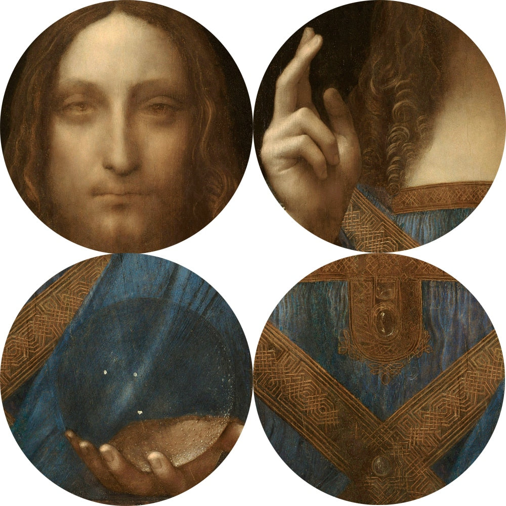 Salvator Mundi [1500] - Leonardo Da Vinci Kiaroskuro Decor- Canvas Prints, Home Décor & Fashion