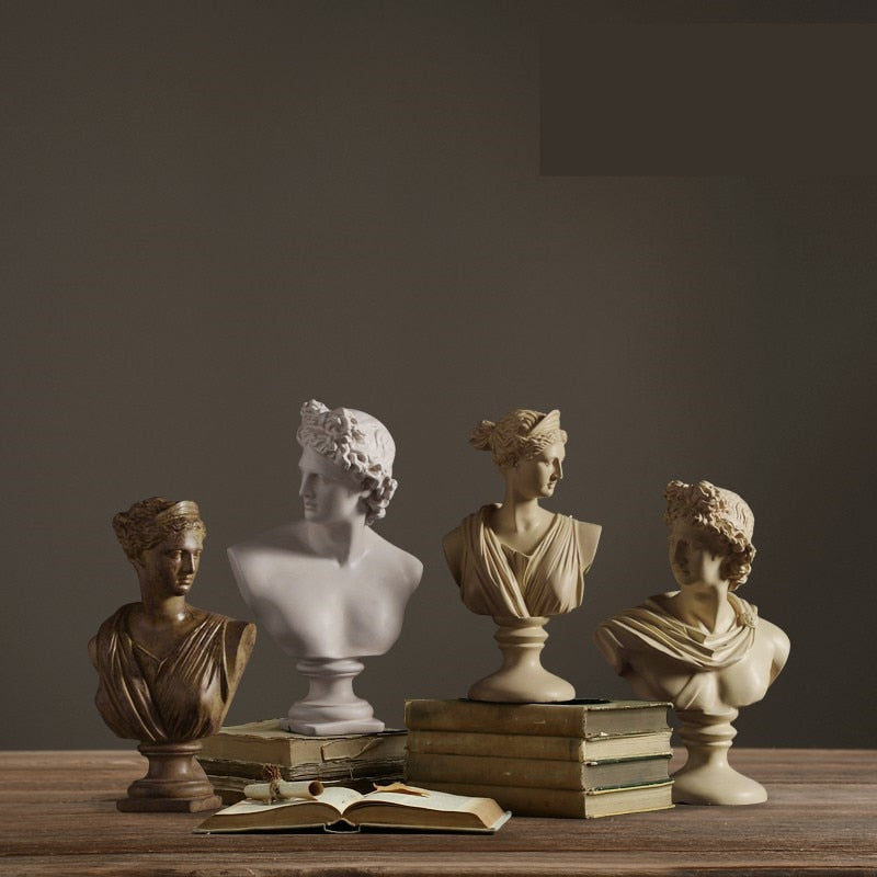 OAK Michelangelo Resin Decoration Statues - Kiaroskuro Kiaroskuro Decor- Canvas Prints, Home Décor & Fashion