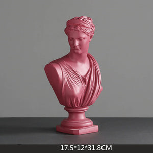 MAROON Michelangelo Resin Decoration Statues - Kiaroskuro Kiaroskuro Decor- Canvas Prints, Home Décor & Fashion