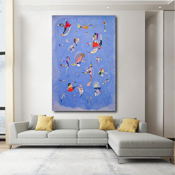 Sky Blue [1940] - Wassily Kandinsky Kiaroskuro Decor- Canvas Prints, Home Décor & Fashion