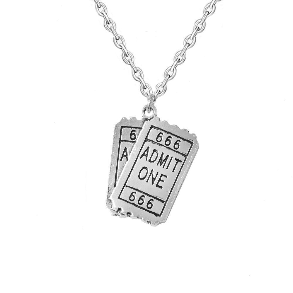ADMIT ONE TO HELL Pendant Necklace - Kiaroskuro