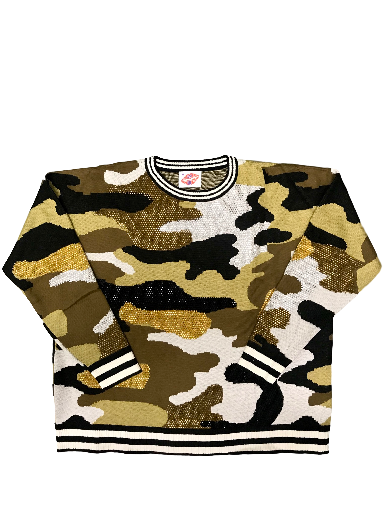 Black and Gold Camo Sweater