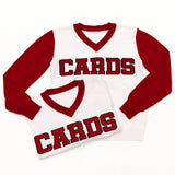 Cards White Jersey Sweater