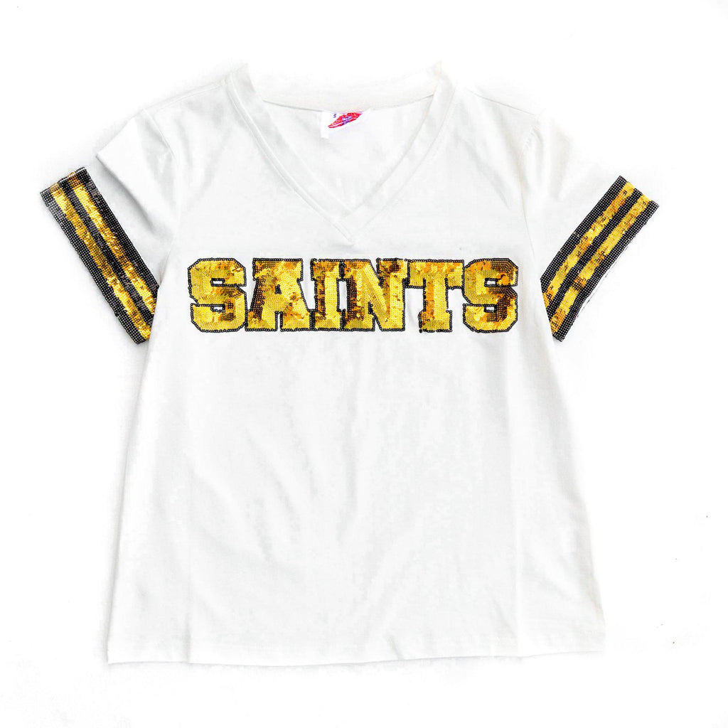 SAINTS White Color Rush Jersey Tee