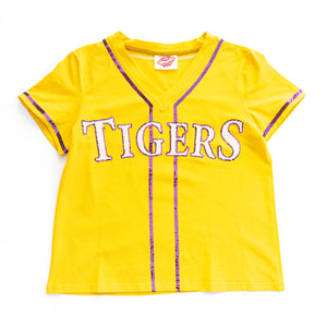 Sparkle Slugger TIGERS Gold Jersey Tee