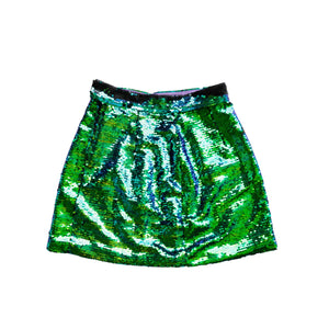 Sequin Spirit Skirt St. Patty's Green