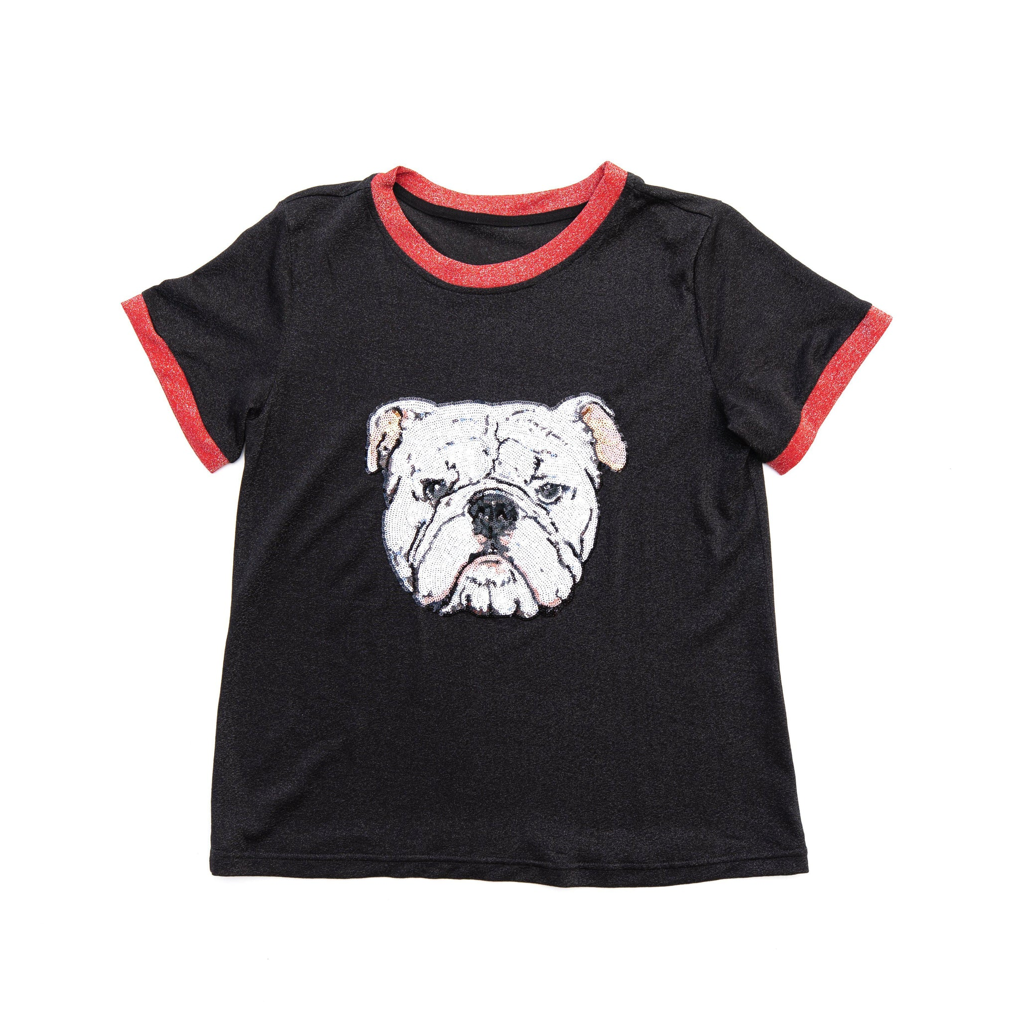 Bulldog Glitter Two Tone Tee