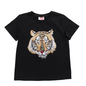 Black Tiger Head Tee