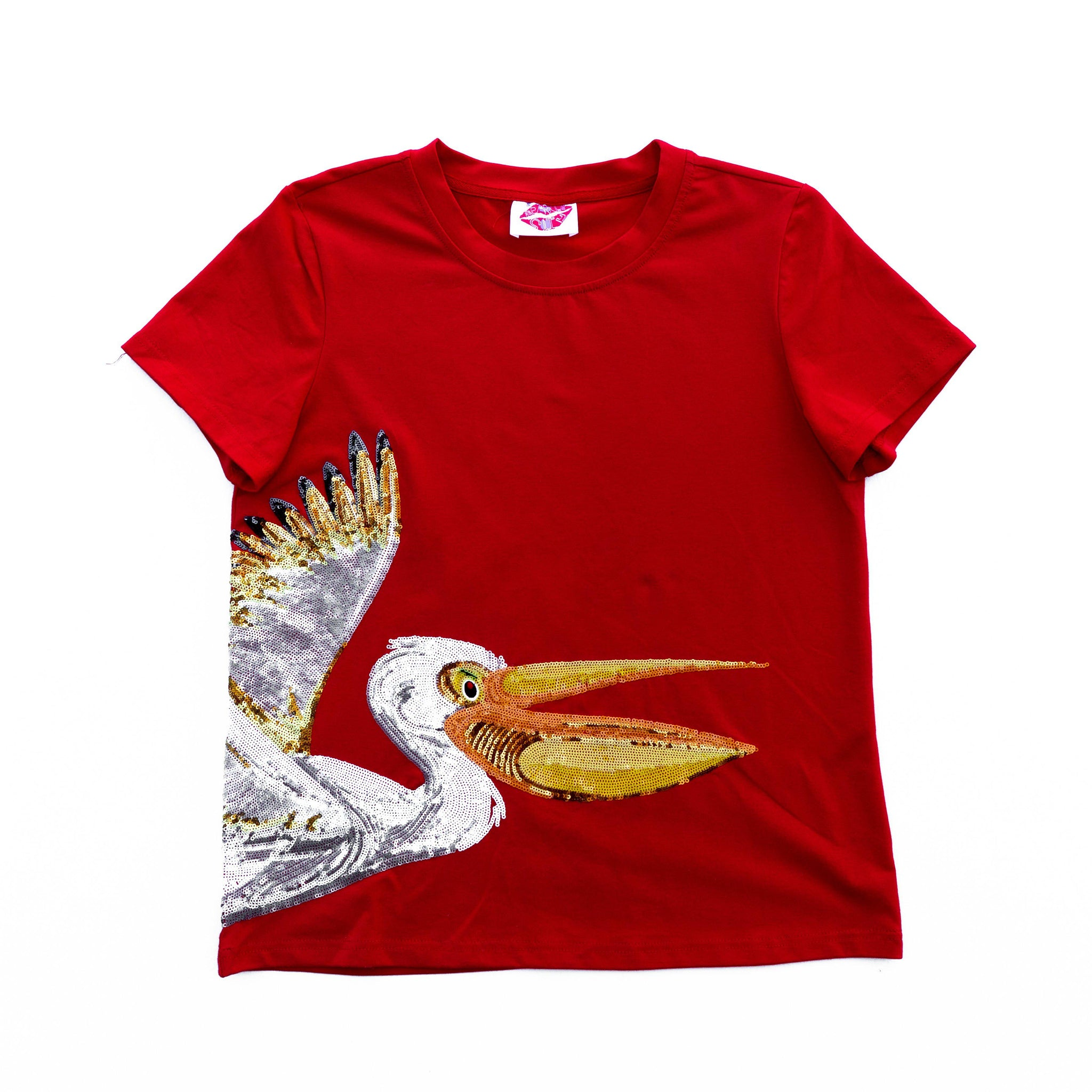 Wrap-Around Pelican Red Tee