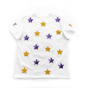 White Star Struck Tiger Head Tee