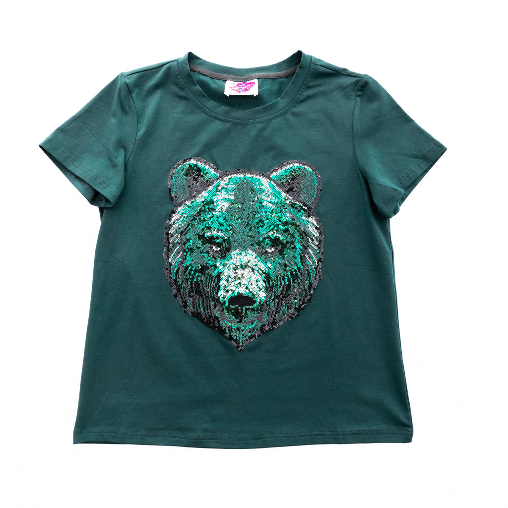 Green Bear Head Tee