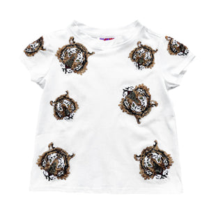 KIDS Tiger Takeover Tee Purple/Gold