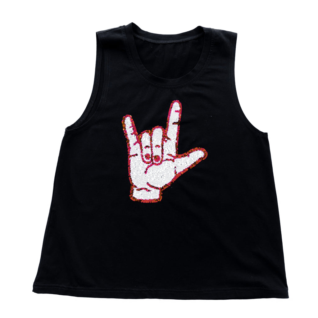 Black Cajuns Hand Sign Tank Top