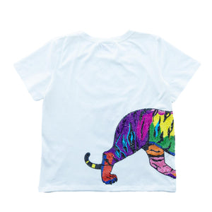 Multicolor Wrap-Around Tiger Tee