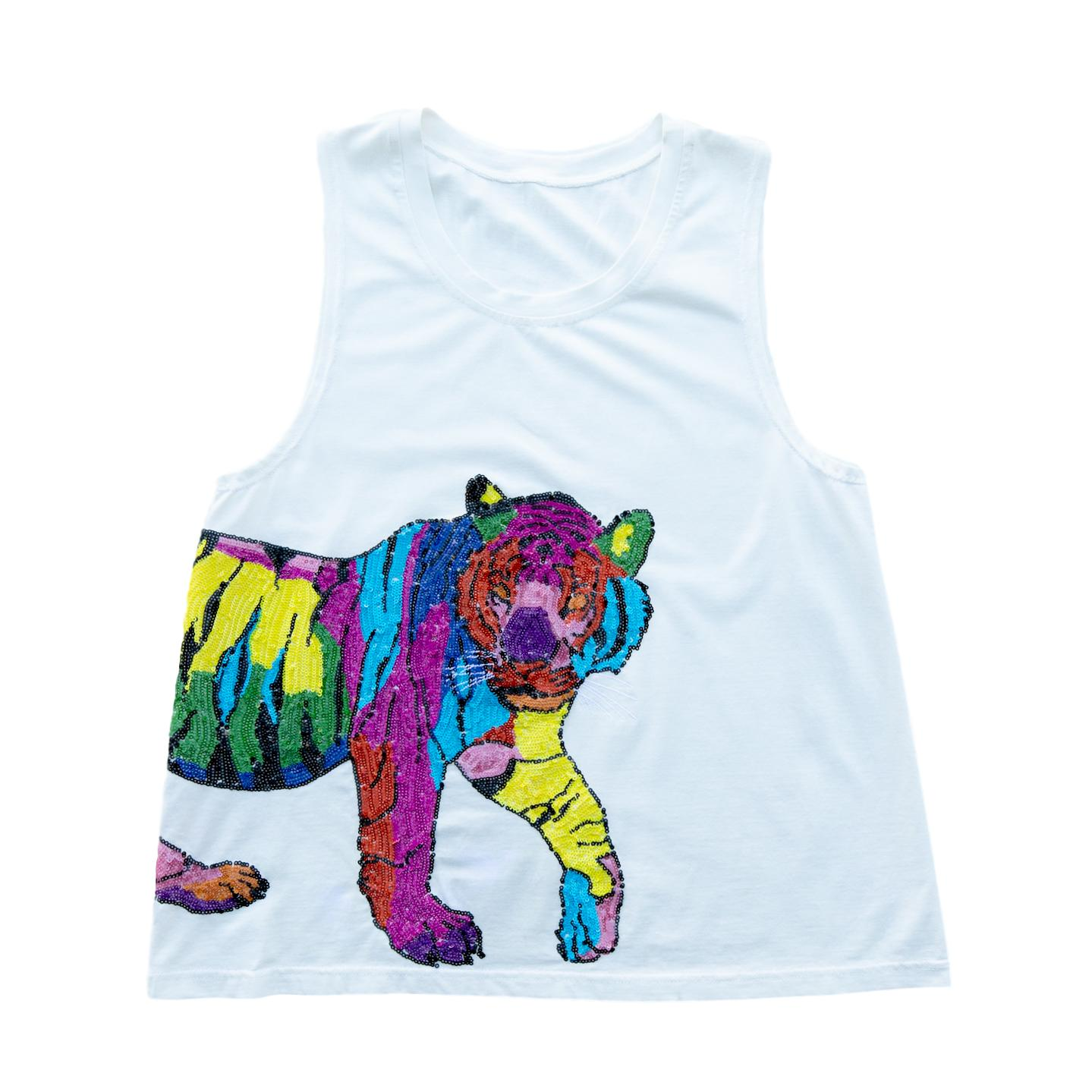 Multicolor Wrap-Around Tiger Tank