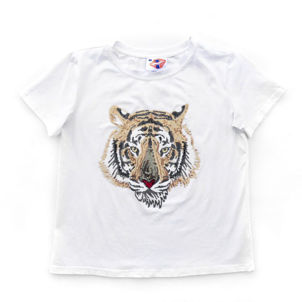White Tiger Head Tee