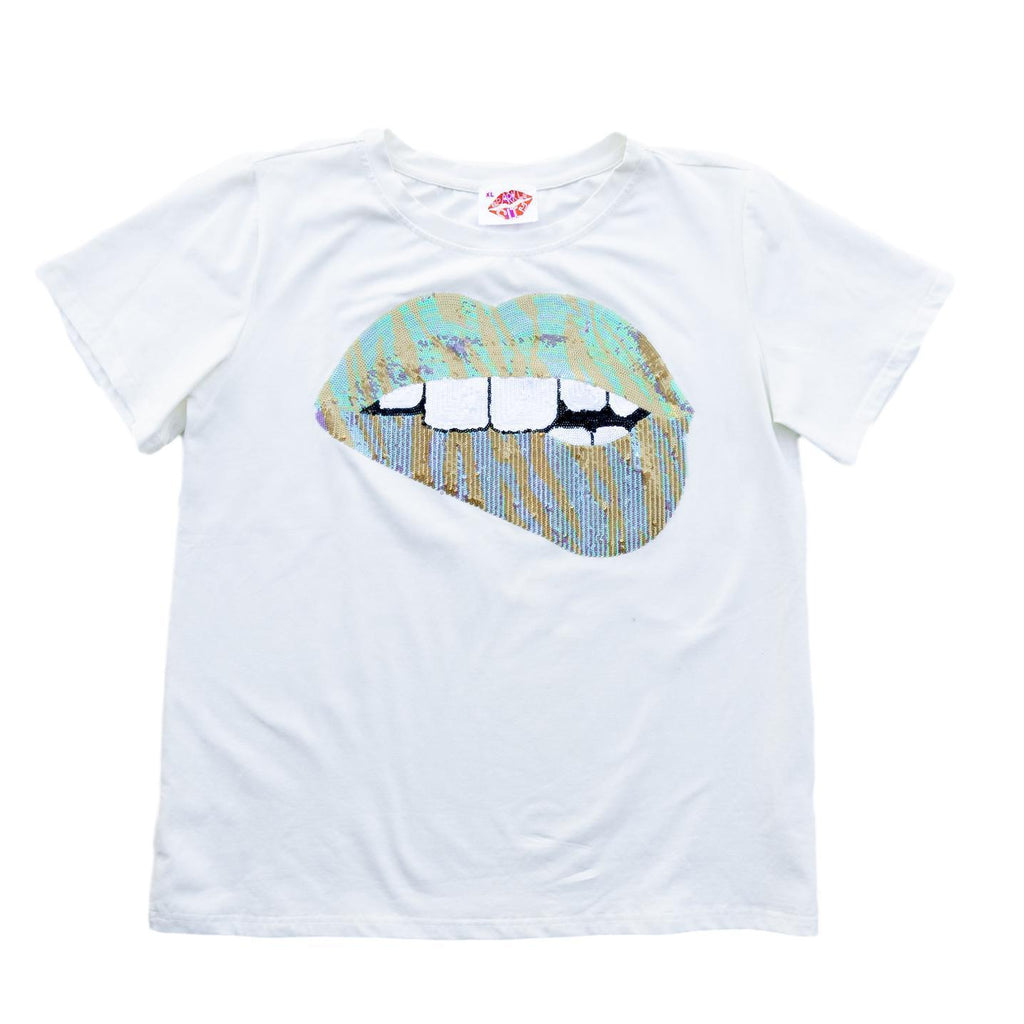 Gameday Grin Tiger Lips Tee