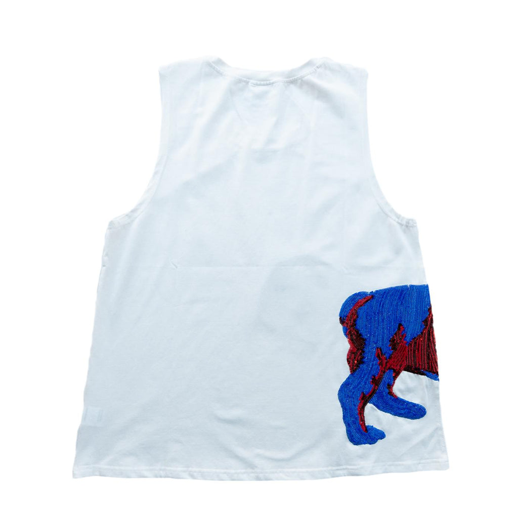 Wrap-Around LA Tech Bulldog Tank Red and Blue