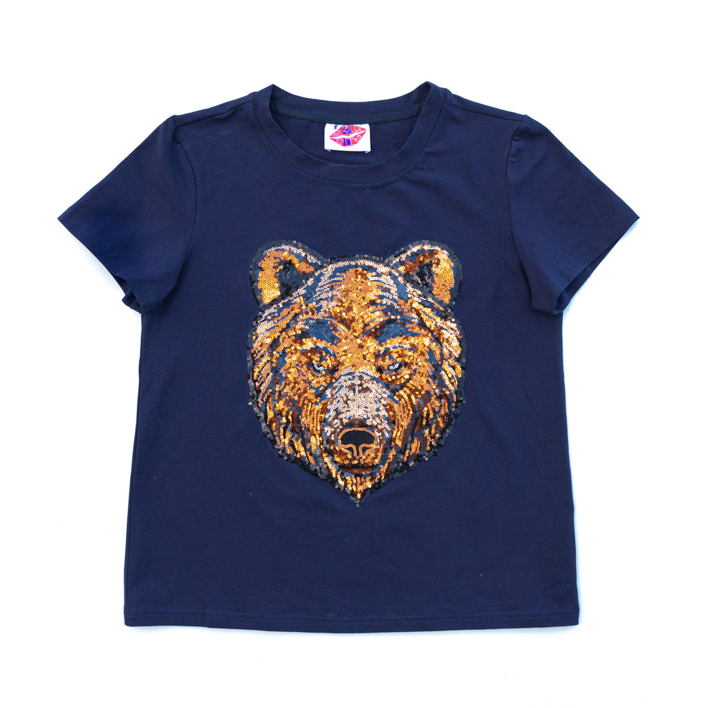 Blue Bear Head Tee