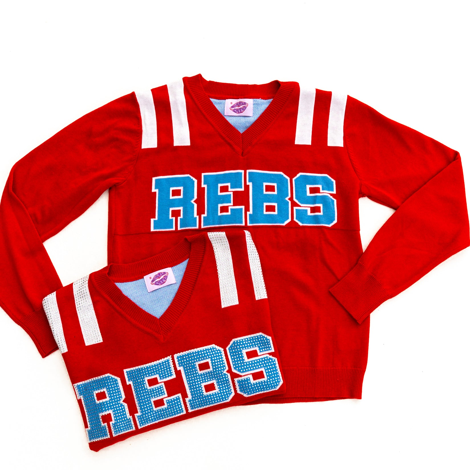 REBS Red Ole Miss Jersey Sweater