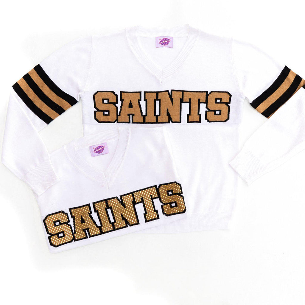 SAINTS White Color Rush Jersey Sweater