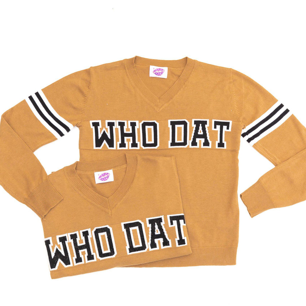 WHO DAT Camel Vintage Jersey Sweater