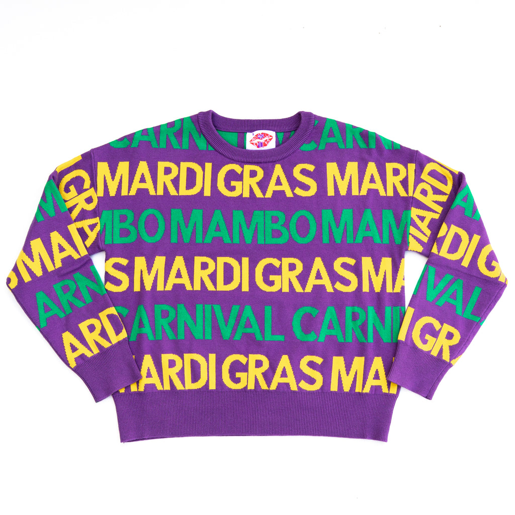 GRAS GRAFFITI Purple Sweater