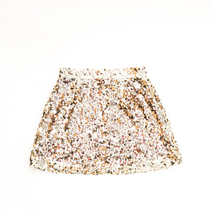 Sequin Spirit Skirt Gold