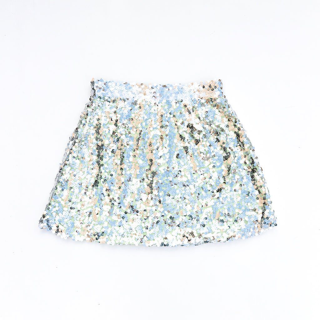 Sequin Spirit Skirt Silver