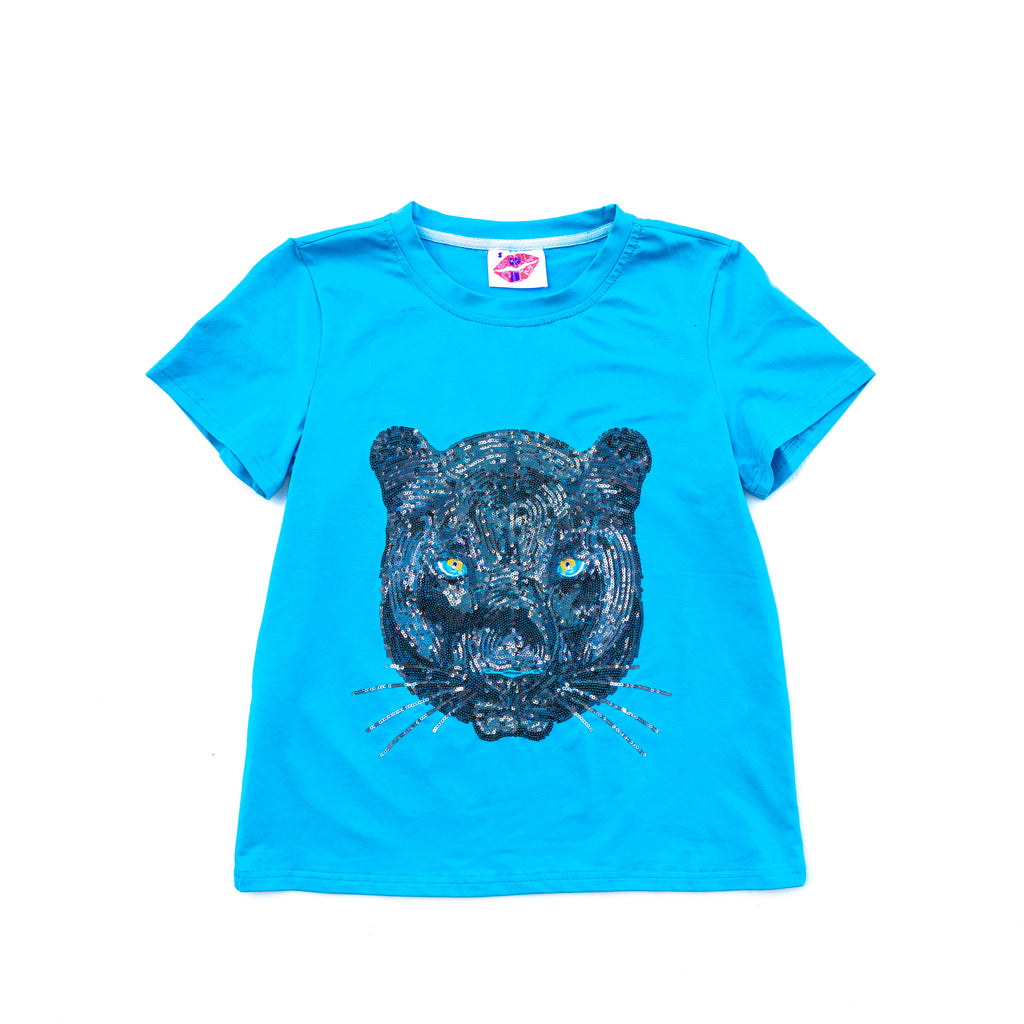 """Blue Cola"" Panther Head Tee"