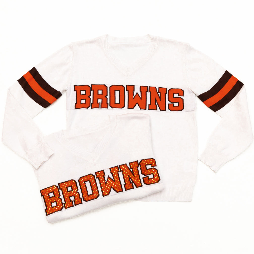 Browns White Jersey Sweater