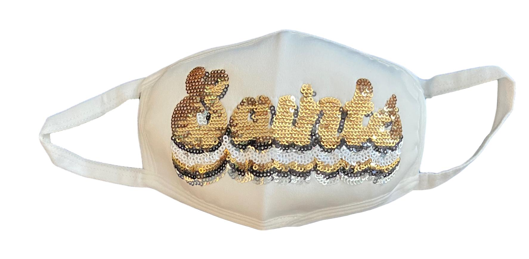 Groovy Gameday SAINTS Mask White