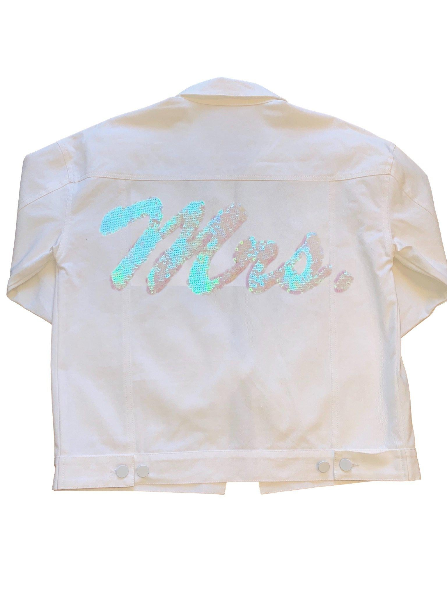 Iridescent Mrs. Denim Jacket