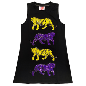 Purple and Gold Prowl Tank Dress