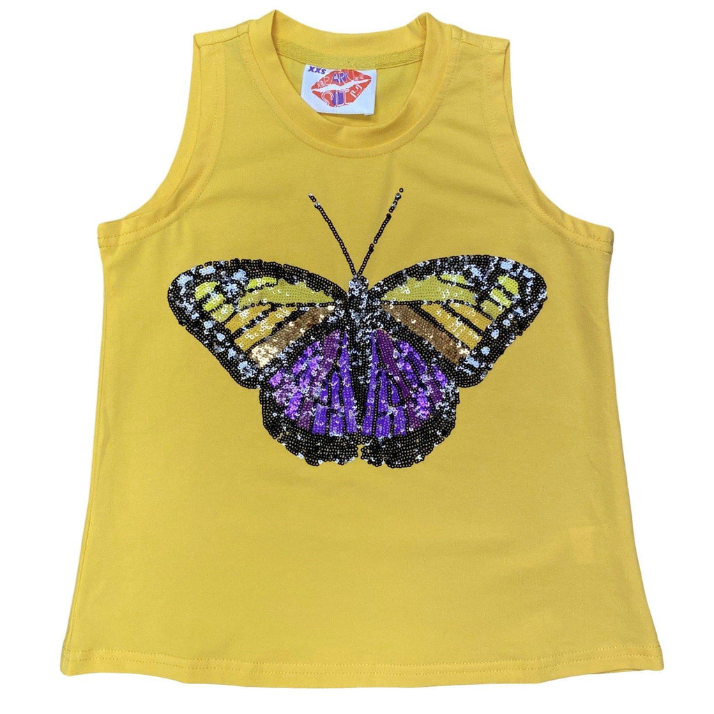 KIDS Purple/Gold Butterfly Tank