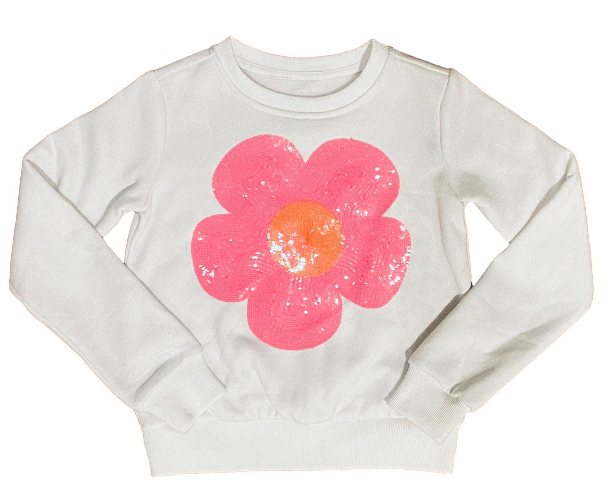 Kids Pink Disco Flower Sweatshirt