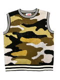 Black and Gold Camouflage Rhinestone Tank