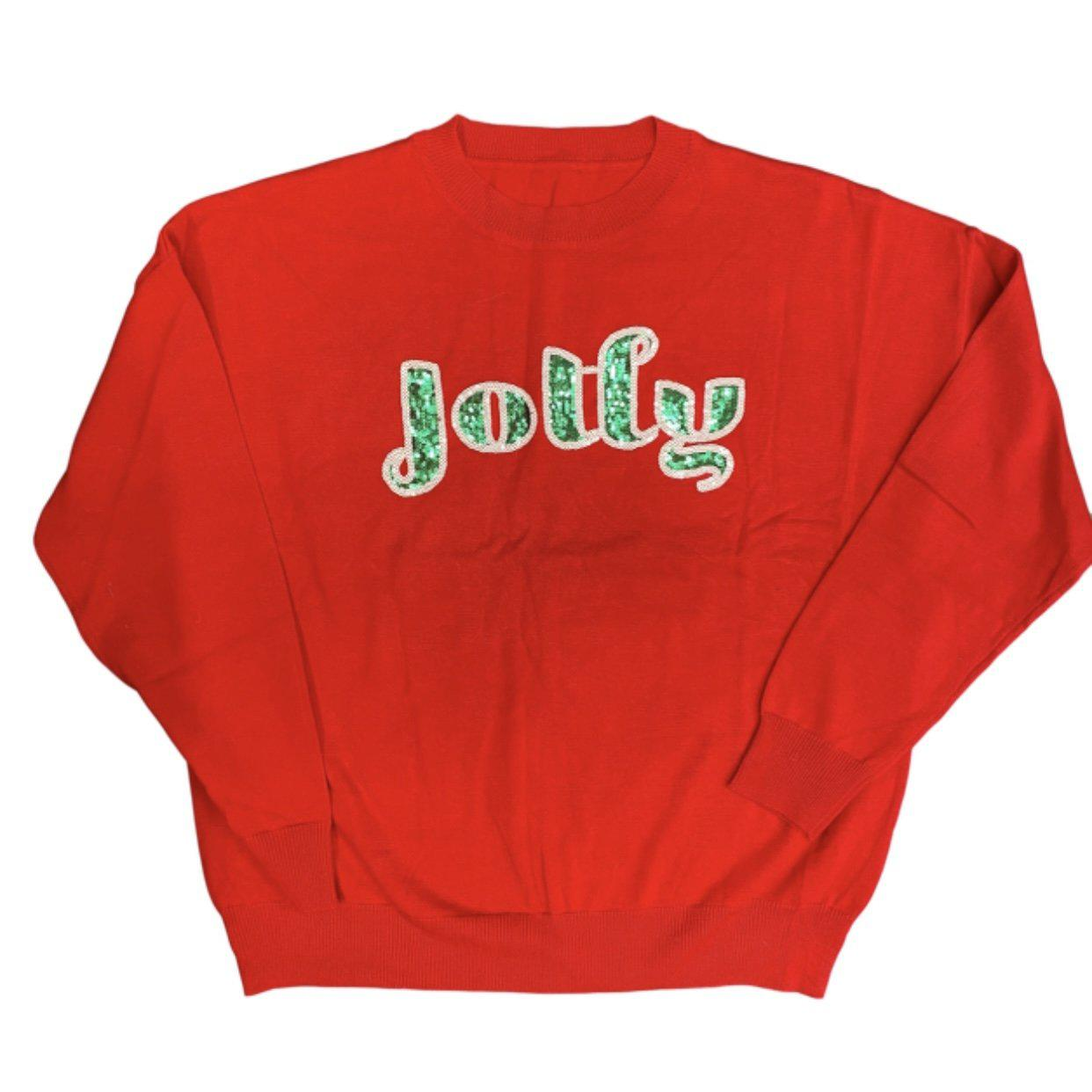 Oversized Jolly Holiday Sweater