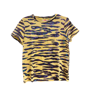 Totally TIGER Iridescent Glitter Tee