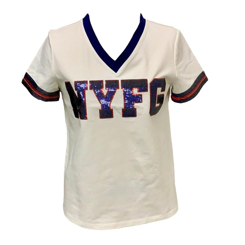 NYFG White Color Rush Jersey Tee