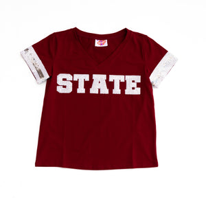 STATE Sequin Jersey Tee